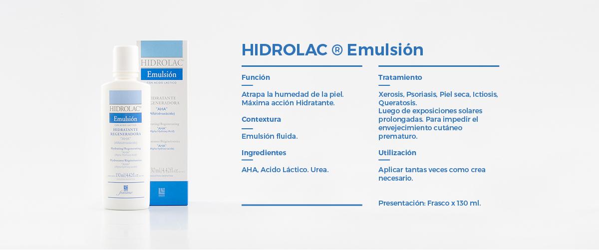 Cuerpo  Hidrolac Emulsion
